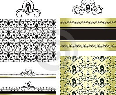 Patterns for decorative borders and frames