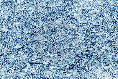 Patterns of ice crystals