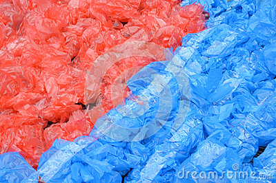 Patterns of used plastic bags