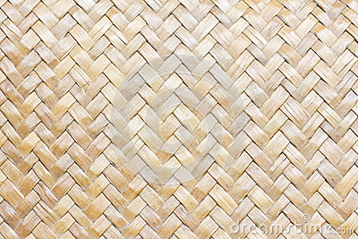 Patterns of weave bamboo.