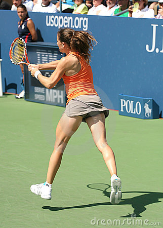 Patty Schnyder, Tennis Backhand Editorial Photo