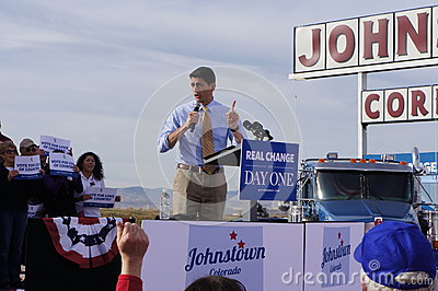 Paul Davis Ryan Rally Mitt Romney Editorial Image