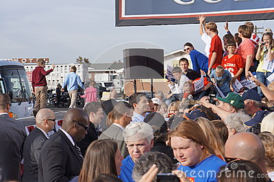 Paul Davis Ryan Rally Mitt Romney Editorial Stock Image