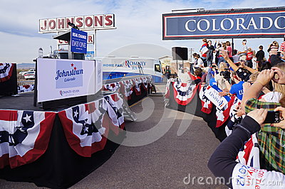 Paul Davis Ryan Rally Mitt Romney Editorial Photo
