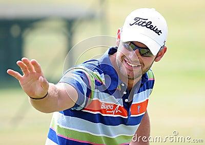 Paul faisant attention (l anglais) au Français de golf ouvrent 2009 Image éditorial