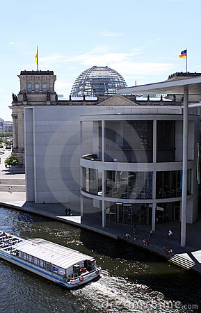 Paul-Lobe-Haus and Reichstag Editorial Photography