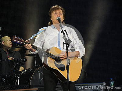 Paul McCartney live in Vienna 2013 Editorial Photo