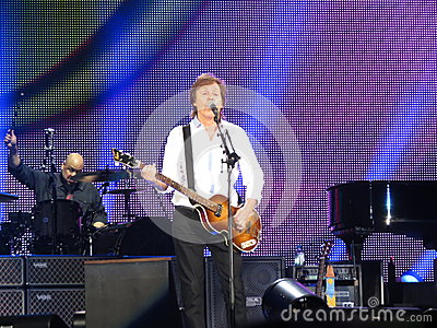 Paul McCartney live in Vienna 2013 Editorial Stock Photo