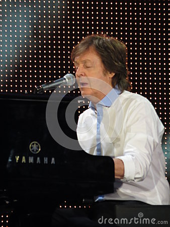 Paul McCartney live in Vienna 2013 Editorial Stock Image