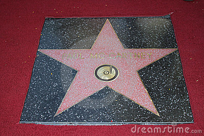 Paul McCartney Star on The Hollywood Walk Of Fame Ceremony, Hollywood, CA 02-09-12 Editorial Photography