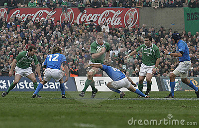Paul O Connell,Ireland V Italy,6 Nations Rugby Editorial Stock Photo