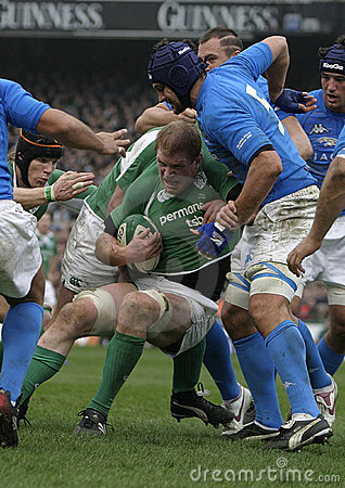 Paul o Connell, Irlande V Italie, rugby de 6 nations Image éditorial