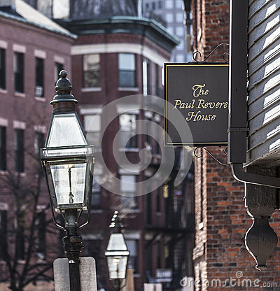 Paul Revere House Editorial Image