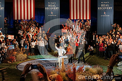 Paul Ryan at Romney Rally Editorial Photo