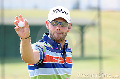 Paul Waring (eng) at the golf French Open 2009 Editorial Stock Image