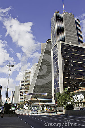 Free Paulista Avenue - FIESP Building Royalty Free Stock Image - 25869066