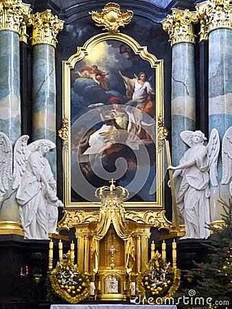 Paulite Church - Krakow - Poland Editorial Stock Photo