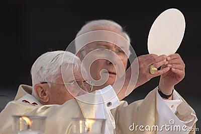 Paus Joseph Benedict XVI Redactionele Stock Afbeelding