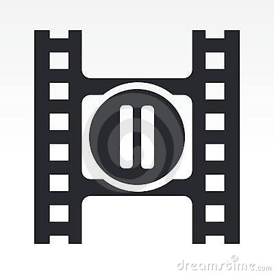 Pause button of a video player
