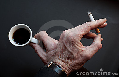 Pause with coffee and cigarette