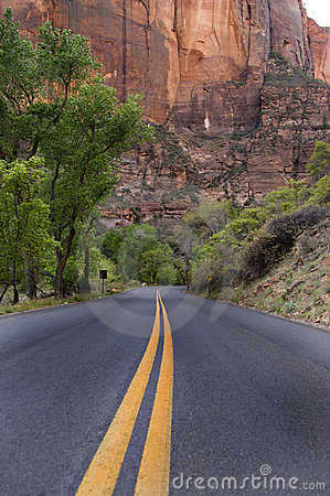 Paved road, Zion National Park