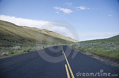 Paved rural road