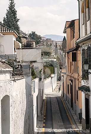 Paved street of Granada