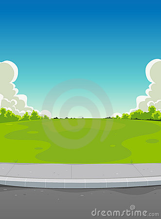 Free Pavement And Green Park Background Royalty Free Stock Images - 22756119