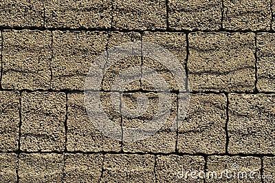 Pavement brown bricks texture