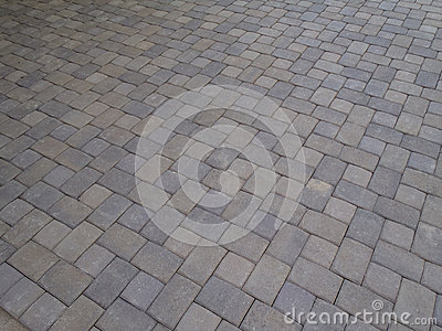 Pavers at angle