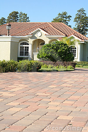 Pavers up to home