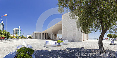 Pavilhao de Portugal - Park of Nations - Lisbon Editorial Stock Photo