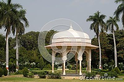 Pavilhão, jardins públicos, Hyderabad