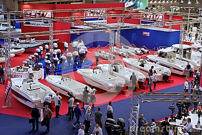 Pavilion in 52th boat show Genoa Editorial Image