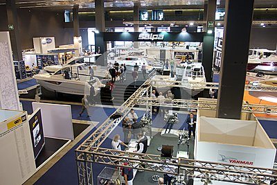 Pavilion in 52th boat show Genoa Editorial Photography