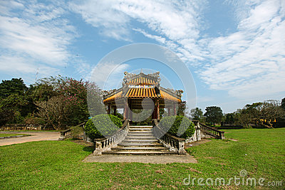 Pavilion at the Chinese gardens, meditative place
