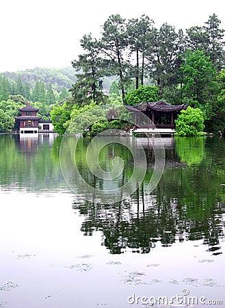 Pavilion in Hangzhou West Lake