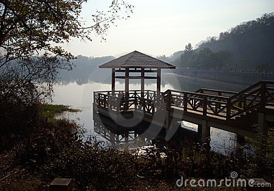 Pavilion in a lake
