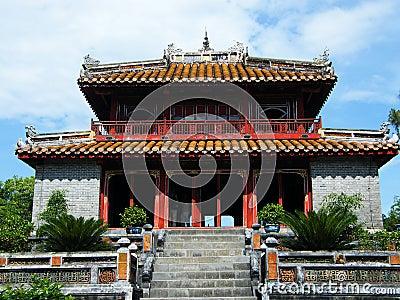 Pavilion at Minh Mang Emperor Tomb in Hue, Vietnam