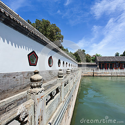 Free Pavilion Of Summer Palace Bordering Kunming Lake, Beijing, China Royalty Free Stock Photography - 93076517