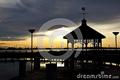 Pavilion during sunset