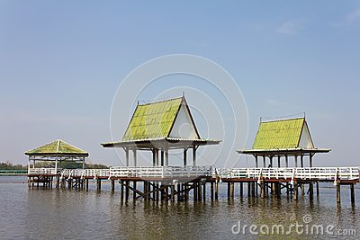 Pavilion on the water.