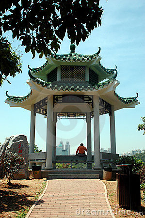 Pavillion in Lian Hua Shan Park