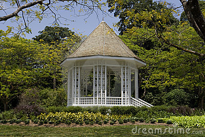 Pavillon aux jardins botaniques de Singapour