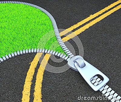 Pavimentazione della via