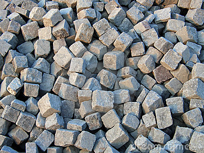 Paving cobblestones