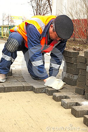 Paving slabs Editorial Stock Image