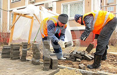 Paving slabs Editorial Photo