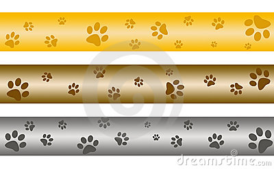 Paw Print Banners Royalty Free Stock Images - Image: 10794659
