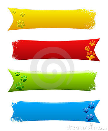 Paw print banners